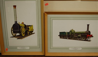 Lot 32-Three framed and glazed prints of transport...