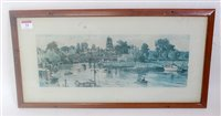Lot 34-Carriage print showing Beccles, Suffolk, from...