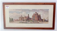 Lot 35-Carriage print showing Stowmarket Station,...