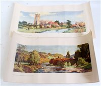 Lot 36-Four unframed original carriage prints: 'River...