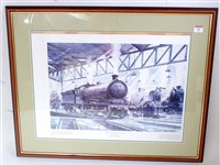 Lot 41-Framed and glazed print 'The Spirit of the North...
