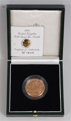 Lot 2045-Great Britain, a cased 1995 gold proof...
