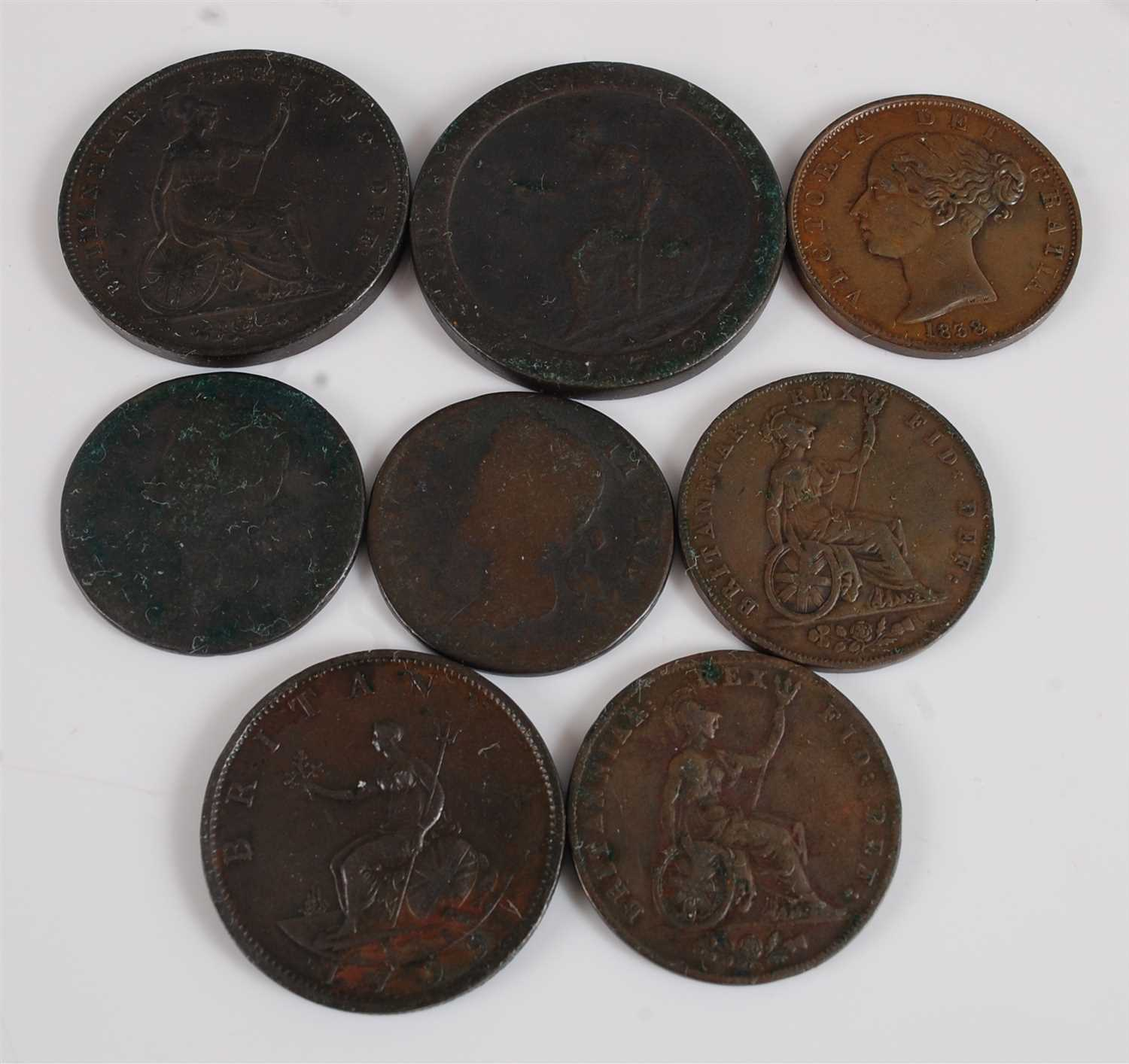 Lot 2072-Great Britain, a collection of eight George II...