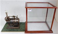 Lot 47-A Bing live steam stationary horizontal steam...
