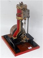 Lot 48-A live steam vertical Stuart Turner type steam...