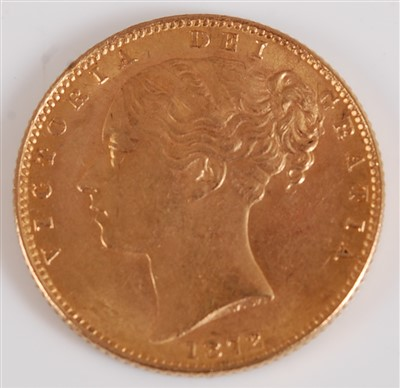 Lot 2034-Great Britain, 1872 gold full sovereign,...