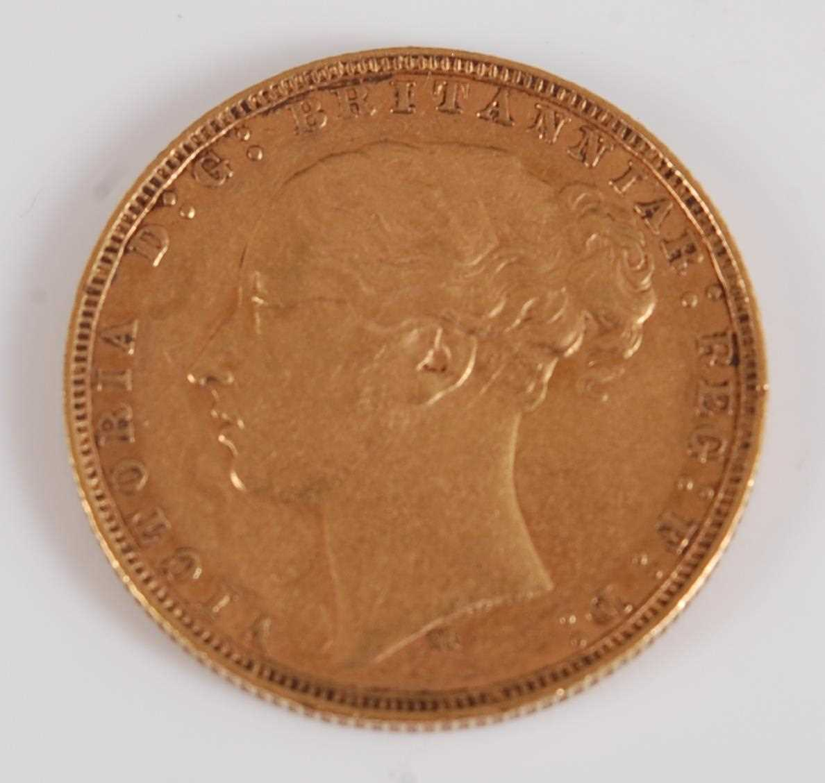 Lot 2036-Great Britain, 1878 gold full sovereign, Victoria ...