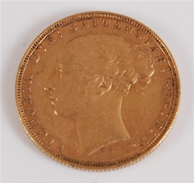 Lot 2036-Great Britain, 1878 gold full sovereign,...