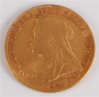 Lot 2037-Great Britain, 1899 gold full sovereign,...