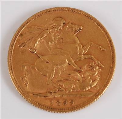 Lot 2037-Great Britain, 1899 gold full sovereign, Victoria ...