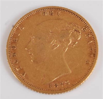Lot 2038-Great Britain, 1873 gold half sovereign,...
