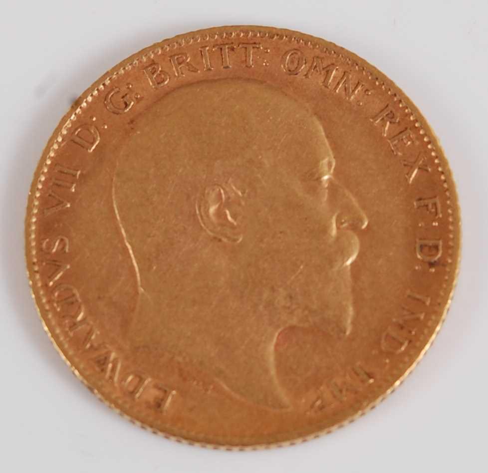 Lot 2039-Great Britain, 1910 gold half sovereign, Edward...
