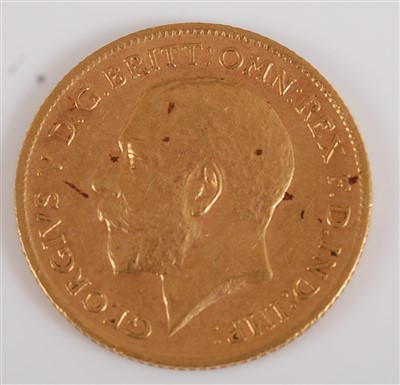 Lot 2040-Great Britain, 1912 gold half sovereign,...