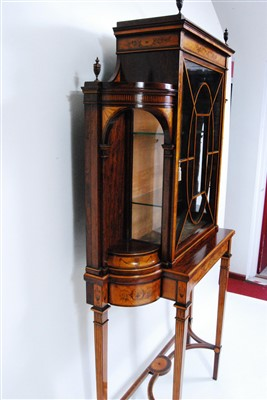 Lot 1621-A Victorian mahogany, satinwood and marquetry...