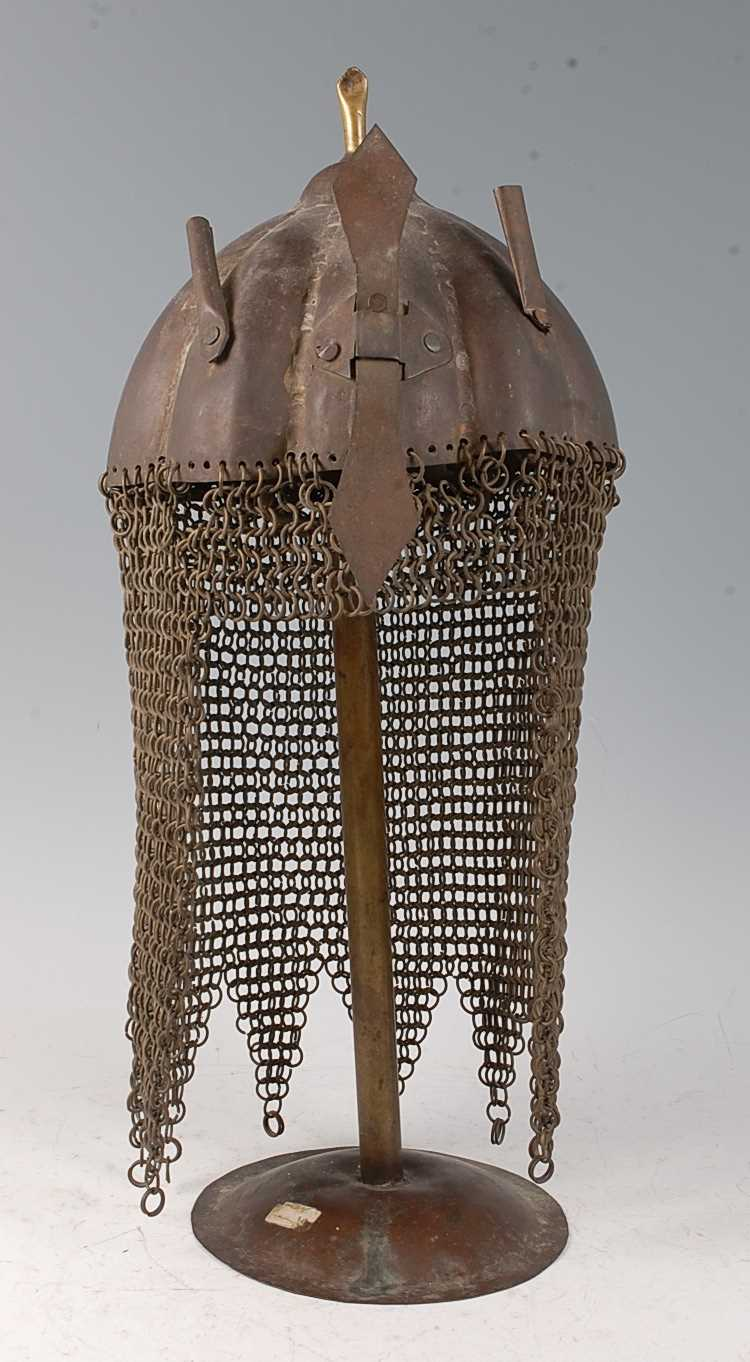 Lot 19 - An Indo-Persian Kulah Khud helmet