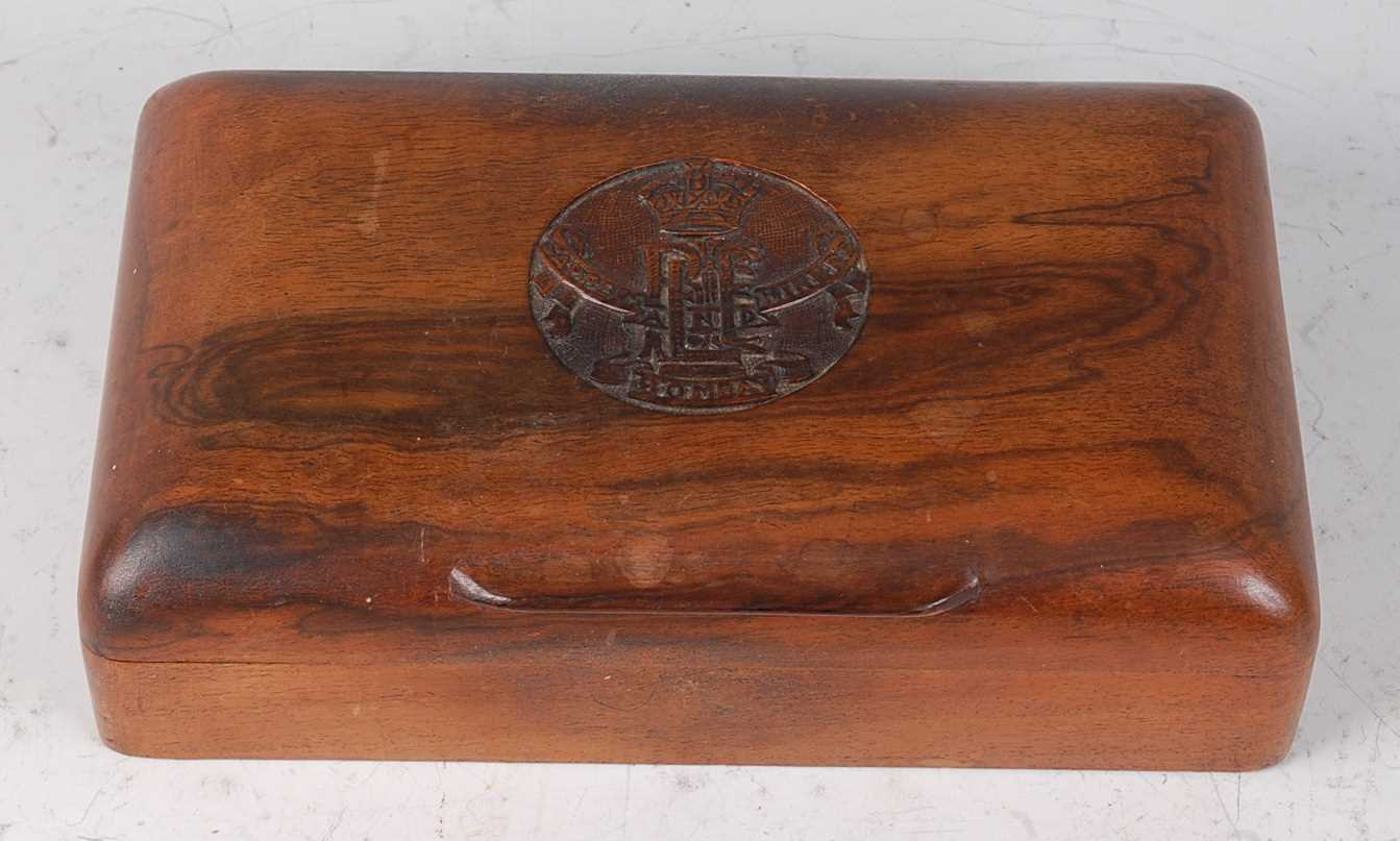 Lot 26-An early 20th century Indian hardwood table cigarette box
