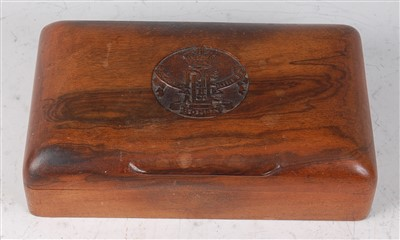 Lot 26 - An early 20th century Indian hardwood table cigarette box