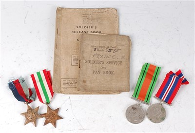 Lot 72-A group of four WW II medals