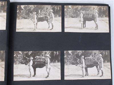 Lot 17-An early 20th century photograph album