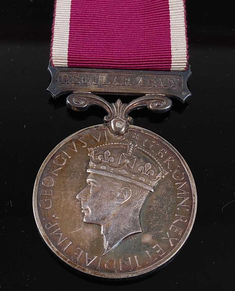 Lot 21 - A Geo. VI. Regular Army Long Service and Good Conduct medal