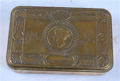 Lot 8-A WW I Princess Mary Christmas gift tin.