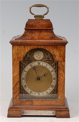 Lot 36 - A mid-20th century walnut cased mantel clock