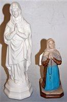 Lot 3-A Belleek blanc-de-chine figure of the Virgin...