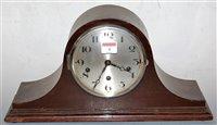 Lot 4-A 1920s mahogany cased mantel clock, having a...