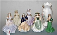 Lot 7-Five boxed Royal Worcester figurines, to include...