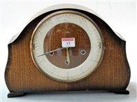 Lot 13-A 1950s Smiths Tempora oak cased mantel clock,...