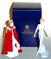 Lot 15-A boxed Royal Worcester figurine in celebration...