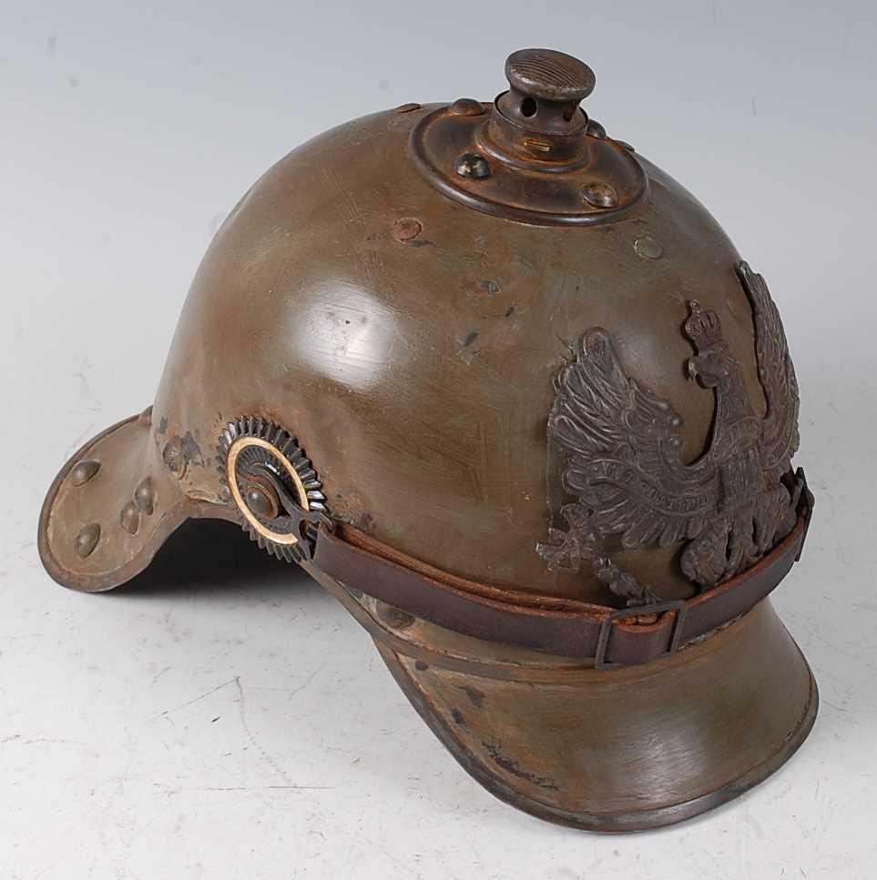 Lot 46-A Prussian Artillery? helmet