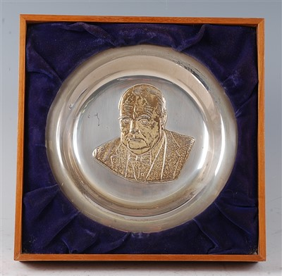 Lot 55-A silver plate