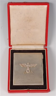 Lot 48 - A German silver pocket cigarette box