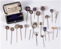 Lot 2562-A group of assorted stick pins: to include two...