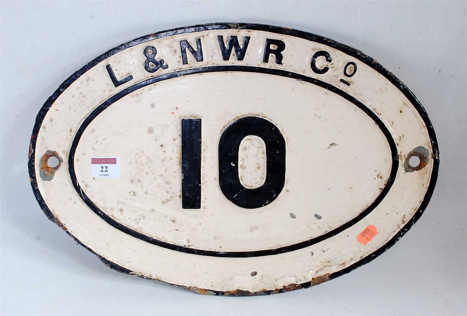 Lot 22-An original cast iron London and North Western...