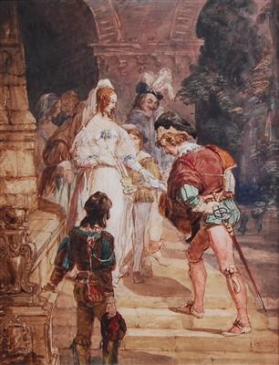 Lot 1459 - George Cattermole (1800-1868) - Twelfth Night,...