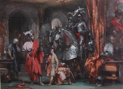 Lot 1443 - George Cattermole (1800-1868) - A Tudor...