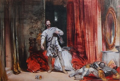 Lot 1457 - George Cattermole (1800-1868) - The Murder of...