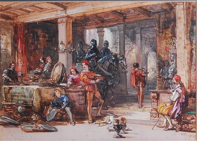 Lot 1444 - George Cattermole (1800-1868) - Looting from...