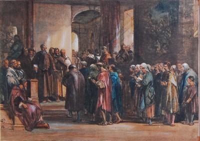 Lot 1452 - George Cattermole (1800-1868) - Scene of...