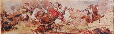 Lot 1446 - George Cattermole (1800-1868) - Civil war...