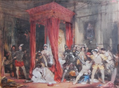 Lot 1441 - George Cattermole (1800-1868) - The murder of...