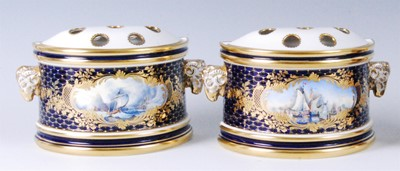 Lot 2047-A pair of Lynton Porcelain Company bough pots and ...