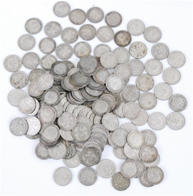 Lot 2080-Great Britian, a large collection of silver threepence coins