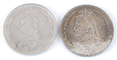 Lot 2010-Great Britian, 1887 shilling