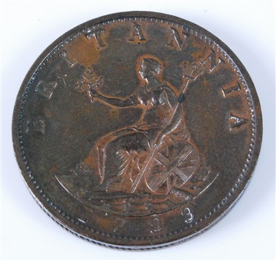 Lot 2033-Great Britain, 1799 Half Penny