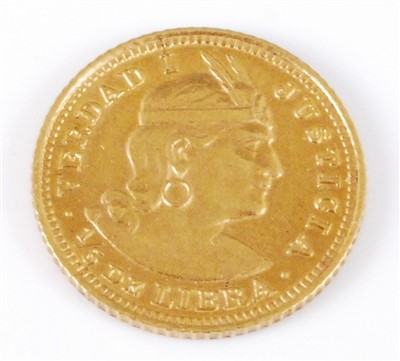 Lot 2048-Peru, 1922 gold 1/5 Libra