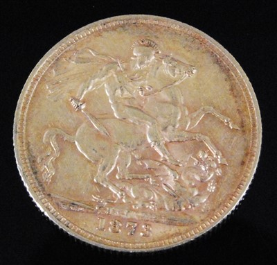 Lot 2056-Great Britain, 1873 gold full sovereign
