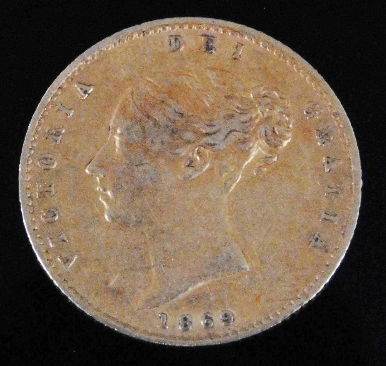 Lot 2057-Great Britain, 1869 gold half sovereign